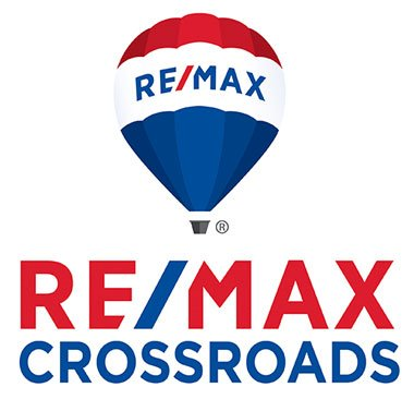 REMAX Crossroads logo with hot air balloon